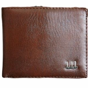 denleila Leather Bifold Wallet Brown